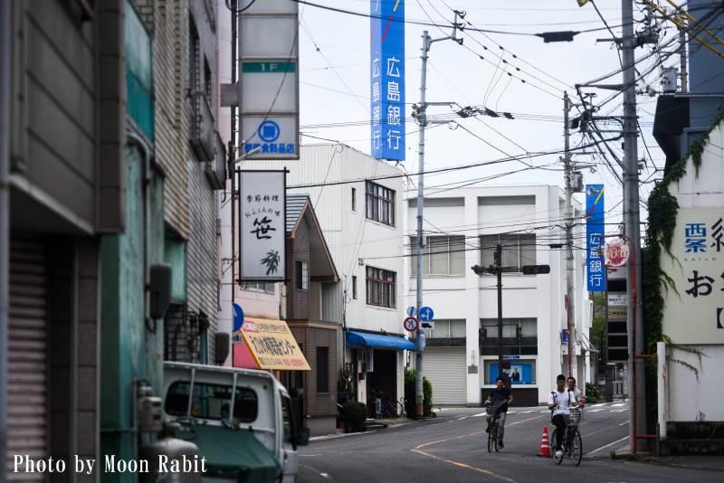 本町一丁目の街並み 愛媛県西条市