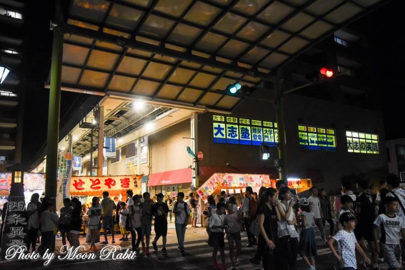 夜市の西条商店街 愛媛県西条市