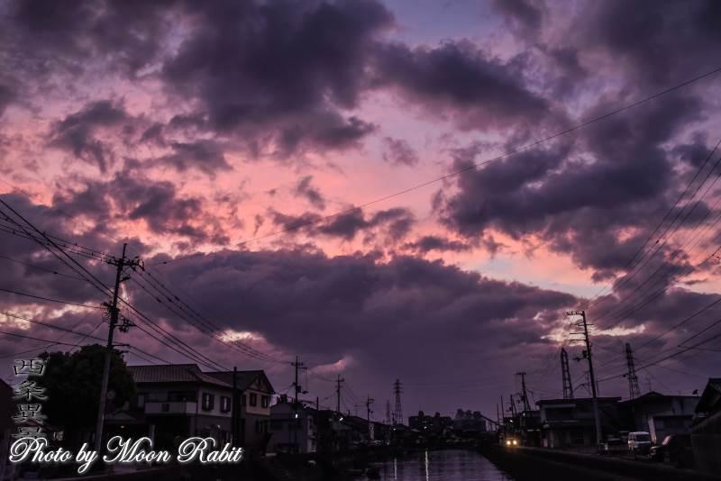 西条漁港の夕景色 愛媛県西条市北浜南
