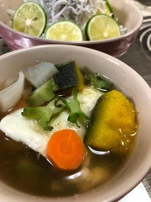 四角豆 お味噌汁