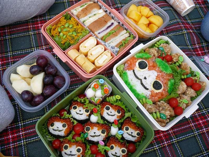 秋の運動会☆お弁当2017「大好きなキャラクターおにぎり!とサンドイッチ」