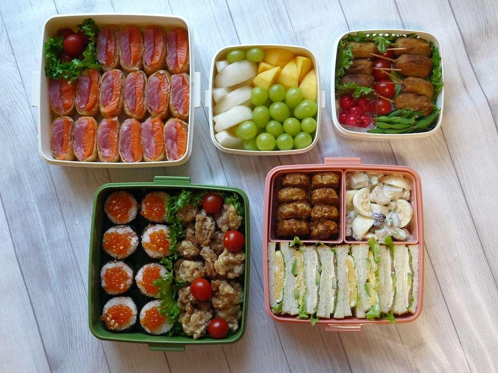 秋の運動会☆お弁当2018「海鮮いなり寿司!と好きなものいろいろ」