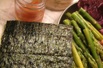 blog CP2 Dinner, Asparagus, Smoked Salmon, Radiccio, Pickles, Nori 2_DSCN8497-4.7.18.jpg