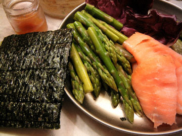 blog CP2 Dinner, Asparagus, Smoked Salmon, Radiccio, Pickles, Nori_DSCN8496-4.7.18.jpg