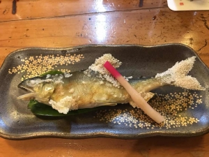 あゆ塩焼き2018.8