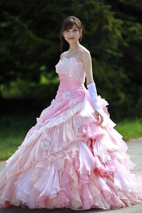 彩音:ピンクドレス5