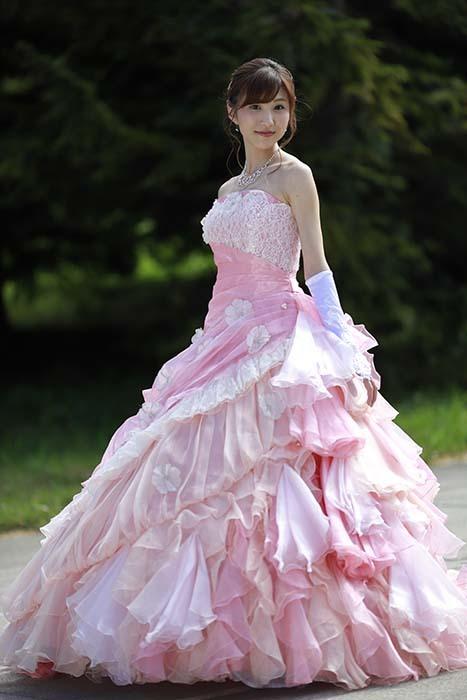 彩音:ピンクドレス6
