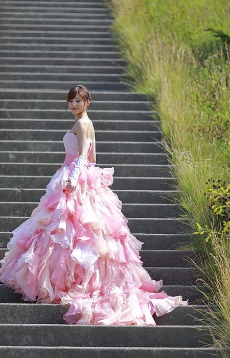 彩音:ピンクドレス7