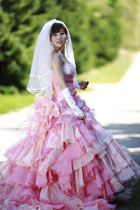 彩音:ピンクドレス10