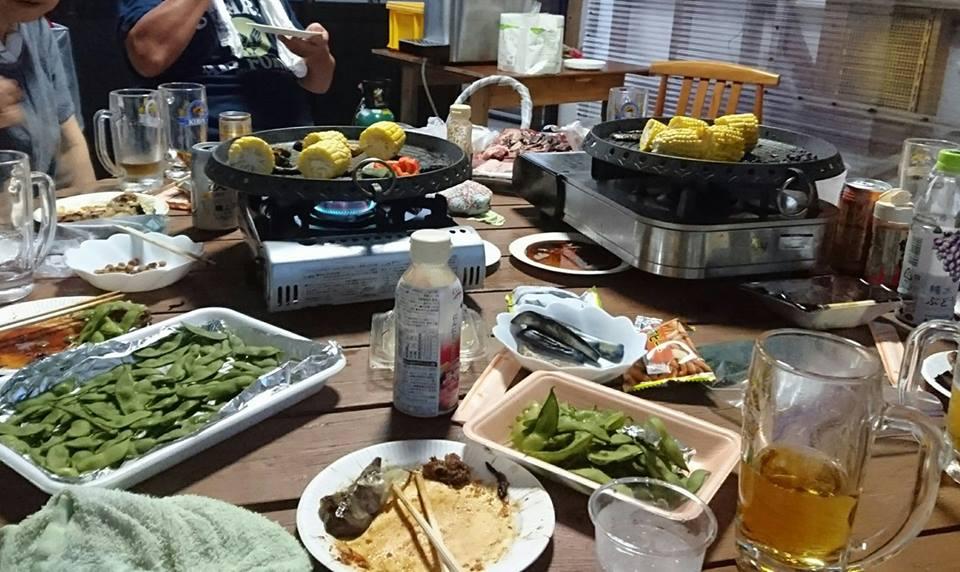 【柿崎区の焼肉パーティーで、いのしし肉も】