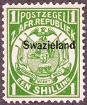 スワジランド加刷(1889)