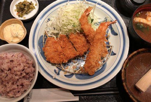 とんかつ浜勝 JRお茶の水店(海老とひれかつランチと昼特定食)