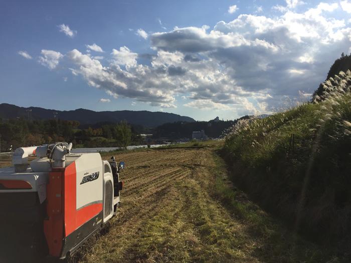 農繁期 秋 2018 コシヒカリ稲刈り 1