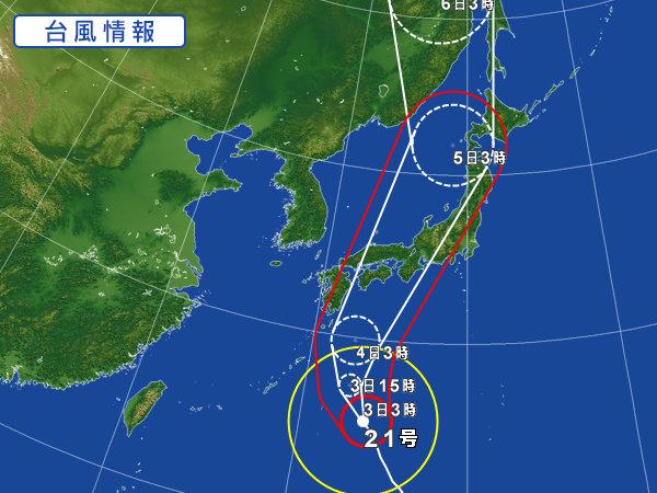 台風21号(JEBI:チェービー)