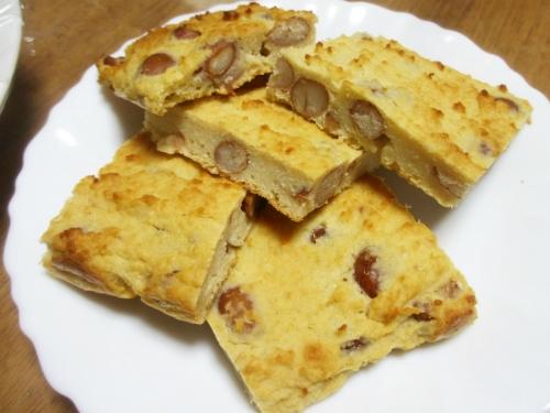 オカラと豆のケーキ